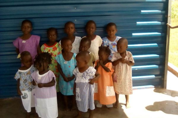 Beautiful outfits for all our kiddies at school and on the feeding programme