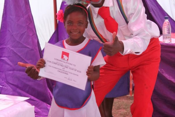 Children leaving our school next year received certificates for their attendance at our school